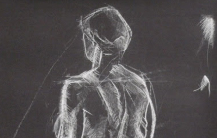 Drawing of a naked person.