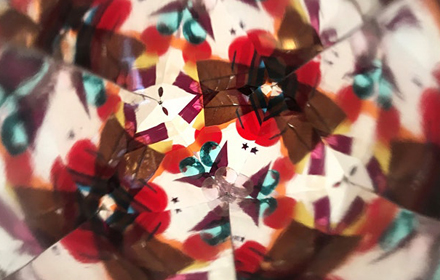 Image shows colourful fragments in abstract patterns.